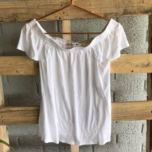Michael Stars White Strapless Top
